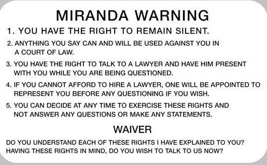 Can My DUI Be Dismissed if I Was Not Read My Miranda Rights
